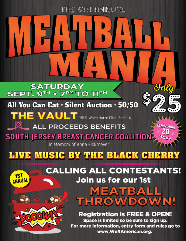 6th Annual Meatball Mania @ The Vault | Lindenwold | New Jersey | United States