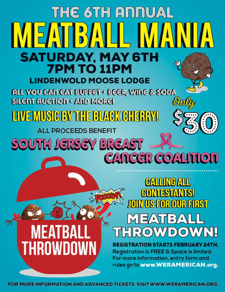 6th Annual Meatball Mania @ Lindenwold Moose Lodge | Lindenwold | New Jersey | United States