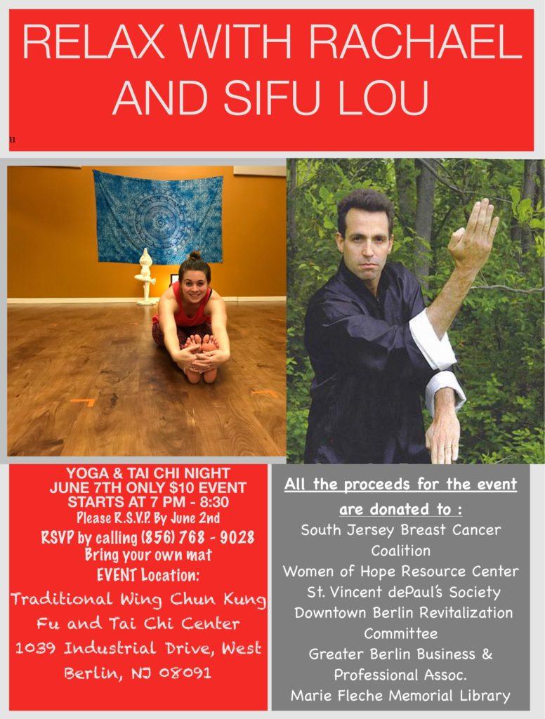 YOGA & TAI CHI NIGHT @ Traditional Wing Chun Kung Fu & Tai Chi Center | West Berlin | New Jersey | United States