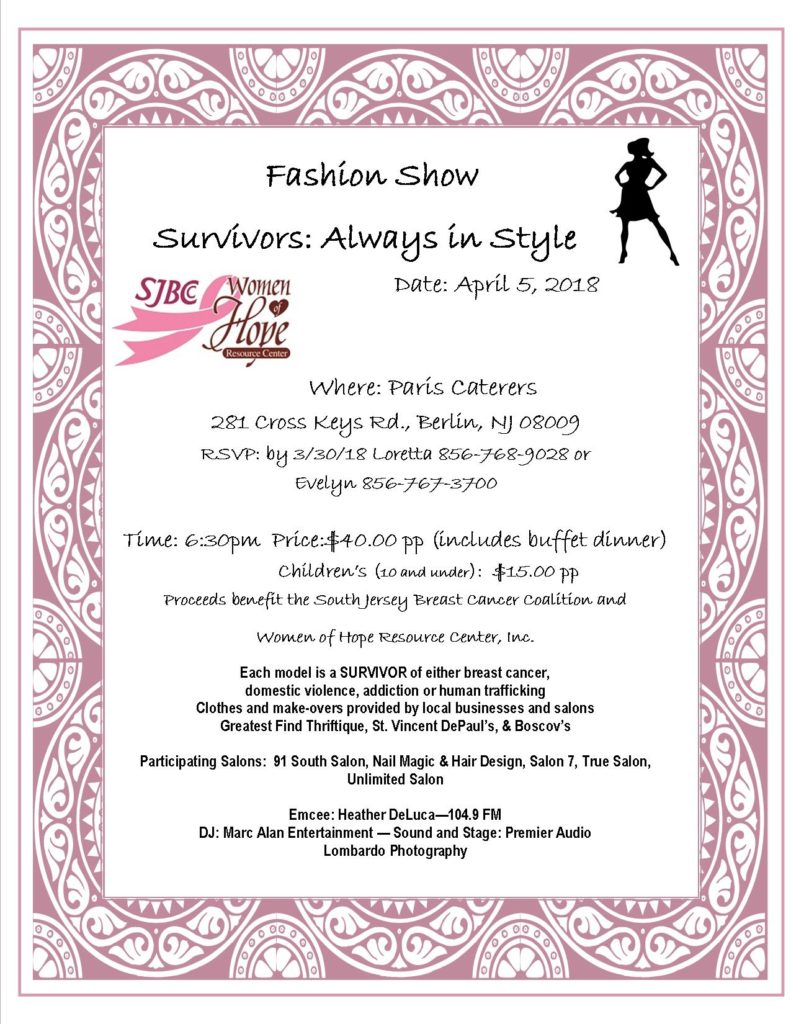 Survivors, Always in Style Fashion Show @ Paris Caterers | Berlin | New Jersey | United States